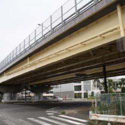 橋梁補修工事の内鋼橋塗替え塗装工(その2)